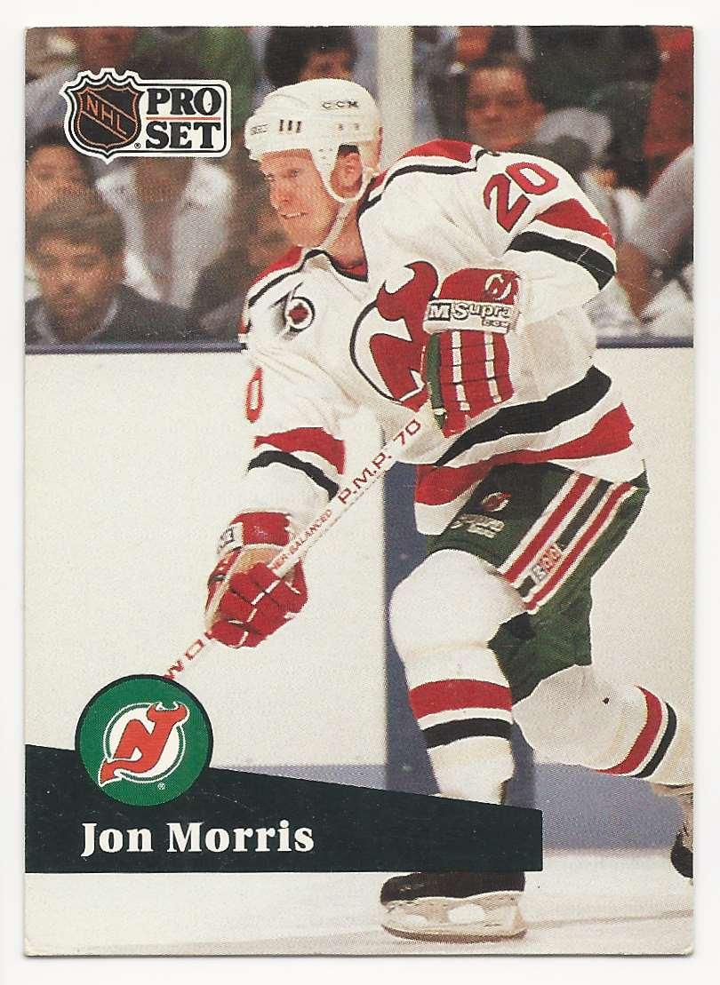 1991-92 Pro Set Jon Morris #424 card front image