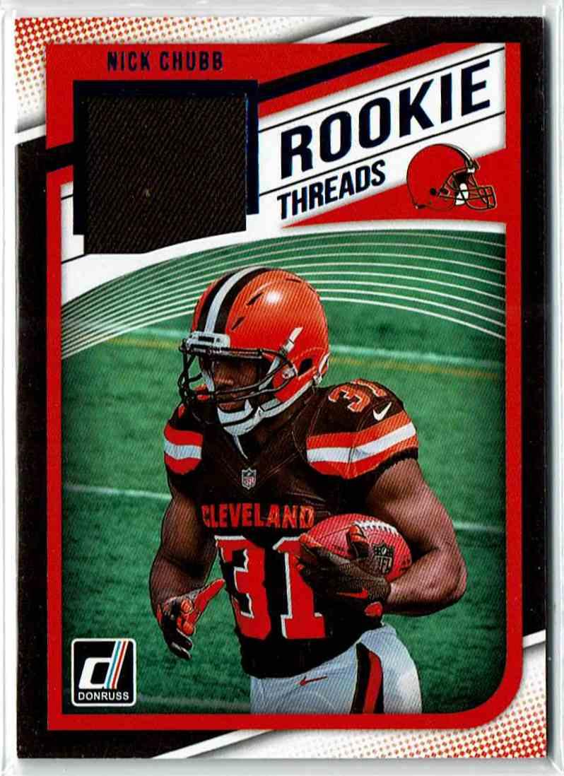 2018 Panini Donruss Rookie Threads Nick Chubb #8 card front image