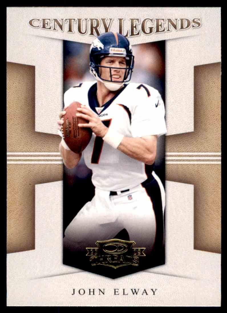 2008 Donruss Threads Century Legends John Elway #CL-14 card front image
