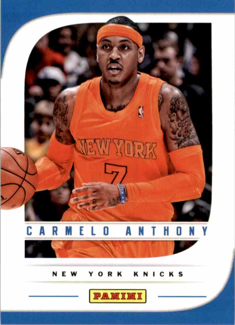 2013-14 Panini Father's Day Carmelo Anthony #18 card front image