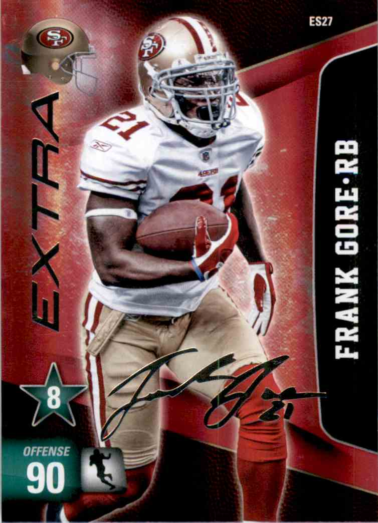 2011 Adrenalyn XL Extra Signature Frank Gore #ES27 card front image