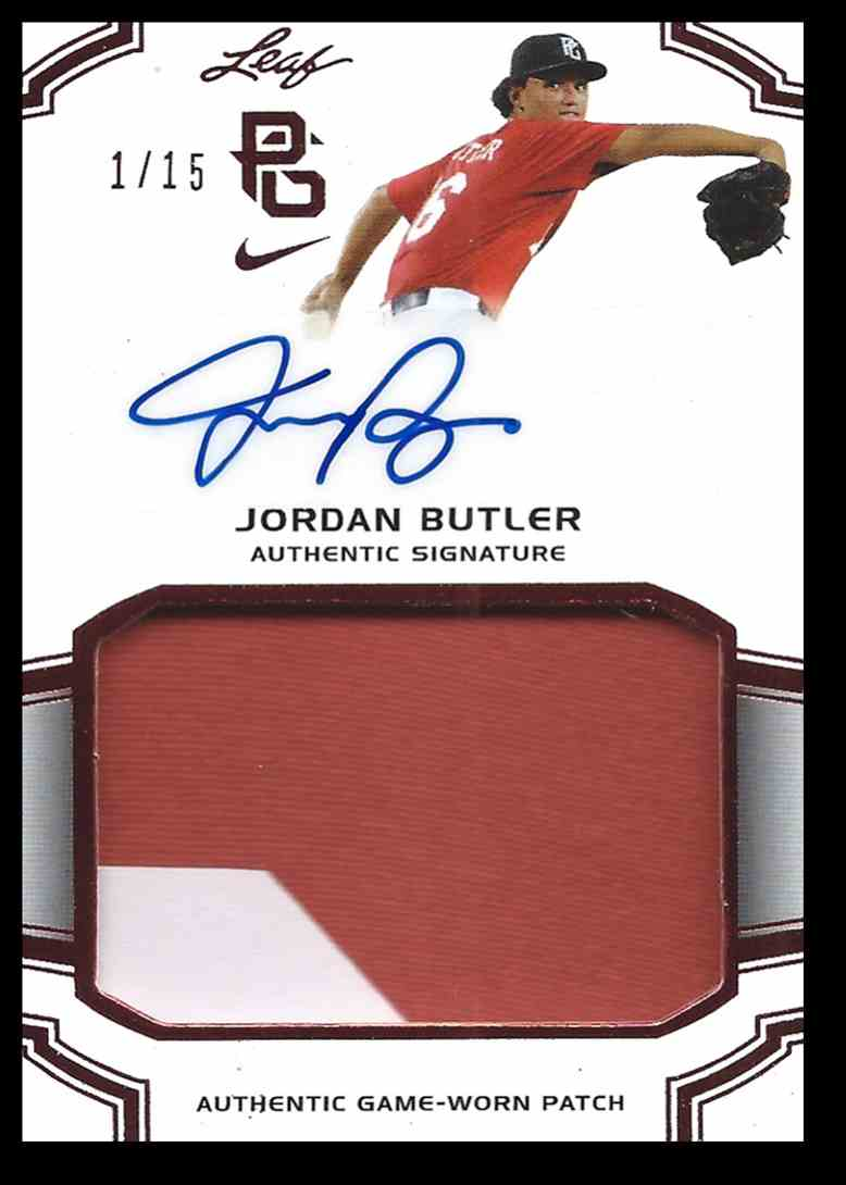2016 Leaf Perfect Game Swatch Jordan Butler #PA-JB2 card front image