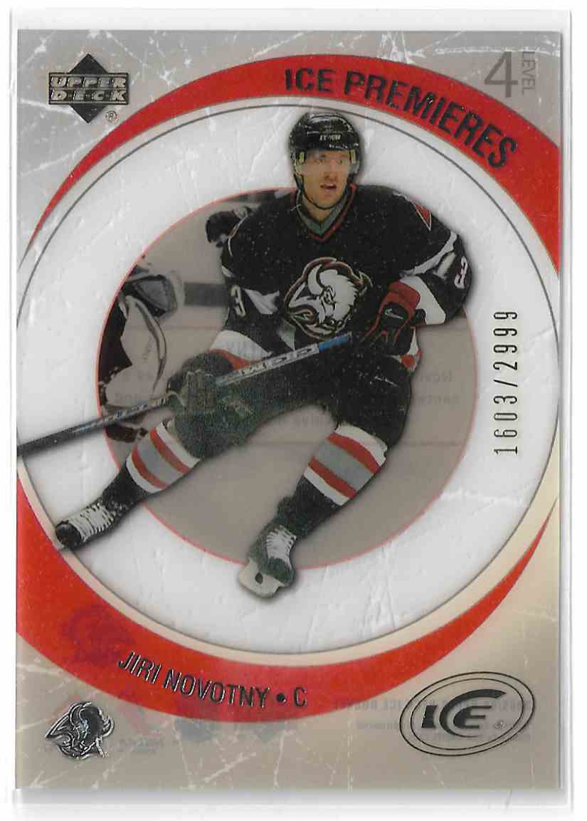 2005-06 Upper Deck Ice Jiri Novotny #255 card front image