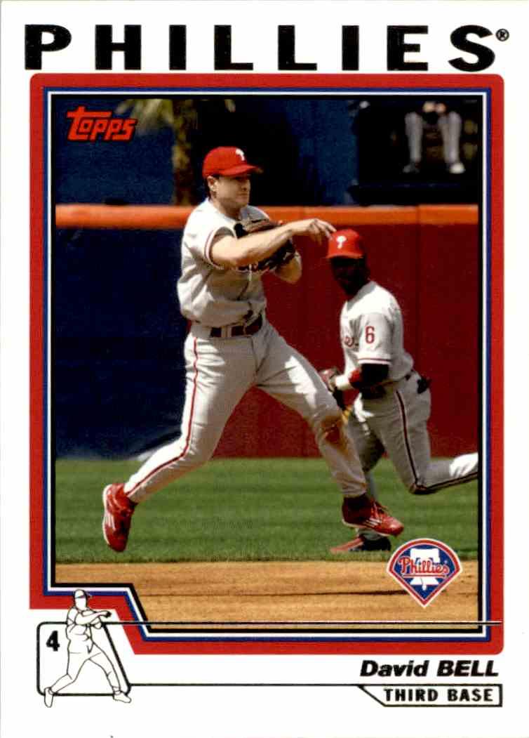 2004 Topps Baseball David Bell 35 On Kronozio