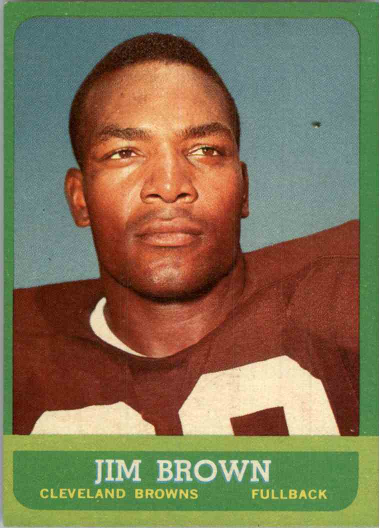 1963 Topps Jim Brown #14 card front image