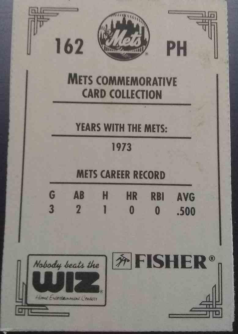 1991 Wiz Mets Greg Harts #162 card back image