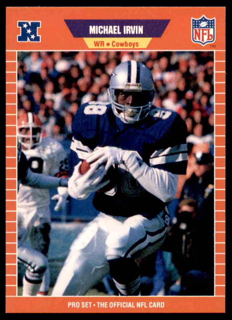 1989 Pro Set Football Michael Irvin 89 Card Front Image