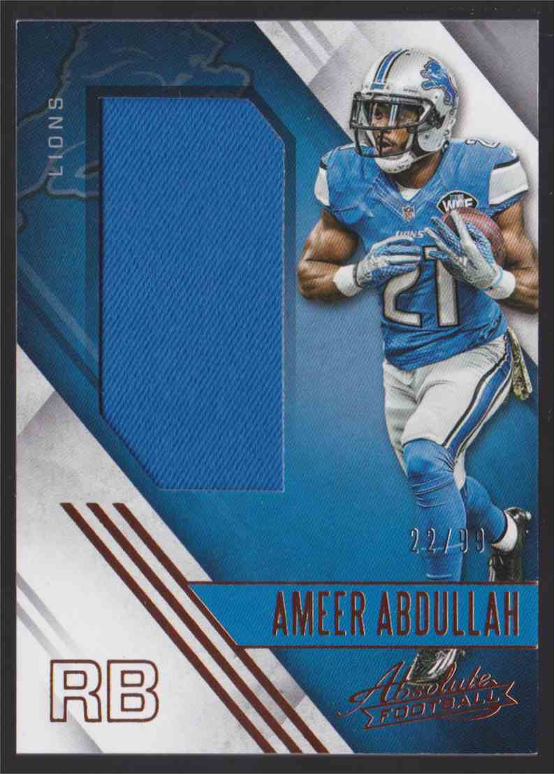 differently b3e55 ddb43 2016 Panini Absolute Absolute Jersey Ameer Abdullah #10 ...