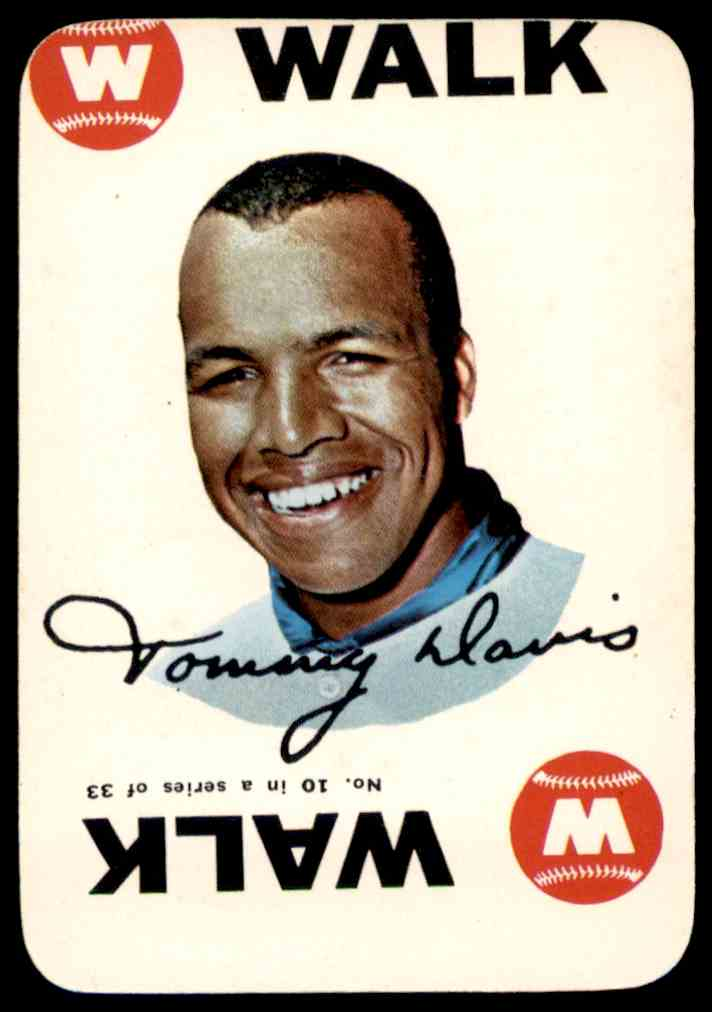 1968 Topps Game Tommy Davis #10 card front image
