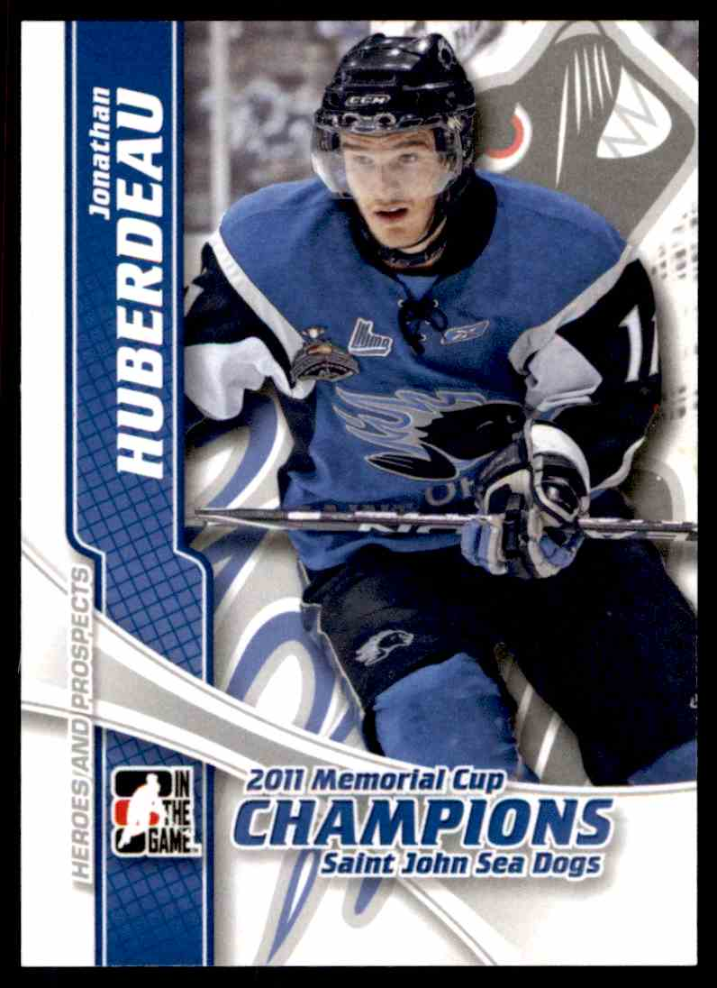 2011-12 ITG In The Game Heroes And Prospect 2011 Memorial Cup Champions Jonathan Huberdeau #MC-01 card front image
