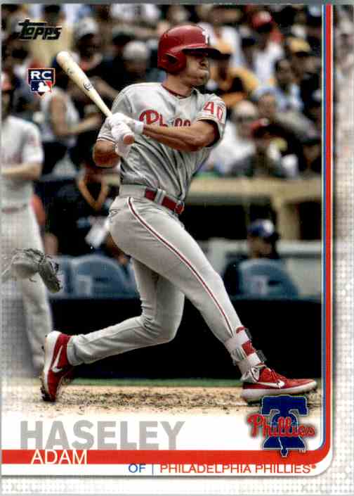 2019 Topps Update Adam Haseley RC #US139 card front image
