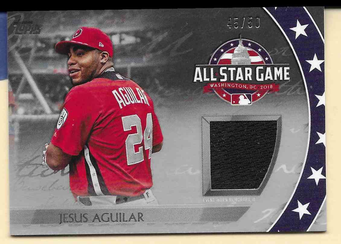 2018 Topps Update All-Star Stitches Silver Jesus Aguilar #AST-JG card front image