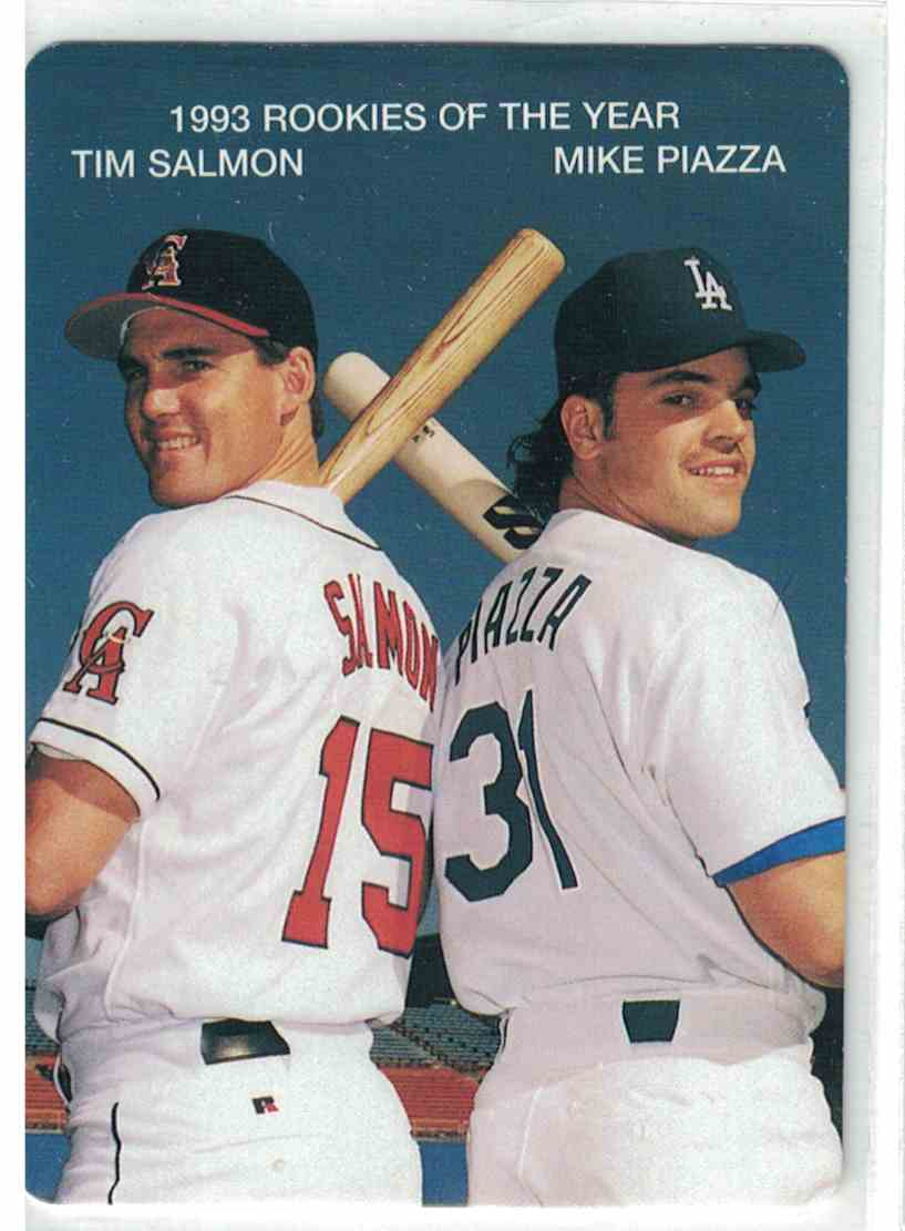 1994 Mothers Cookies Tim Salmon Mike Piazza 1993 Roy39s 4 On