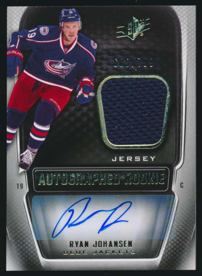 2011-12 SPx Autographed Rookie Ryan Johansen #198 card front image