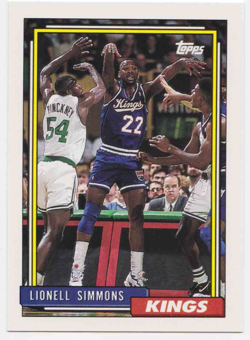 1992 93 Topps Base Lionel Simmons 22 on Kronozio