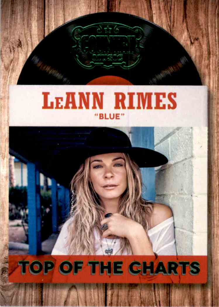 2015 Country Music Top Of The Charts Green LeAnn Rimes #21 card front image