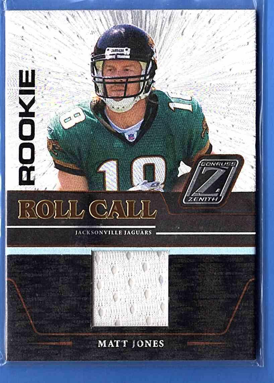 2005 Zenith Rookie Roll Call Jerseys Matt Jones #RC-18 card front image