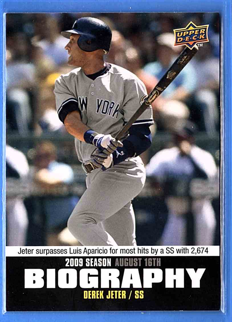 2010 Upper Deck Season Biography Derek Jeter #SB151 card front image