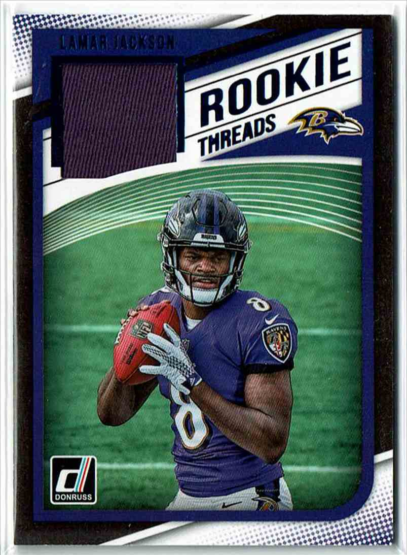 the latest 303f6 eaa0a 2018 Panini Donruss Rookie Threads Red Lamar Jackson #17
