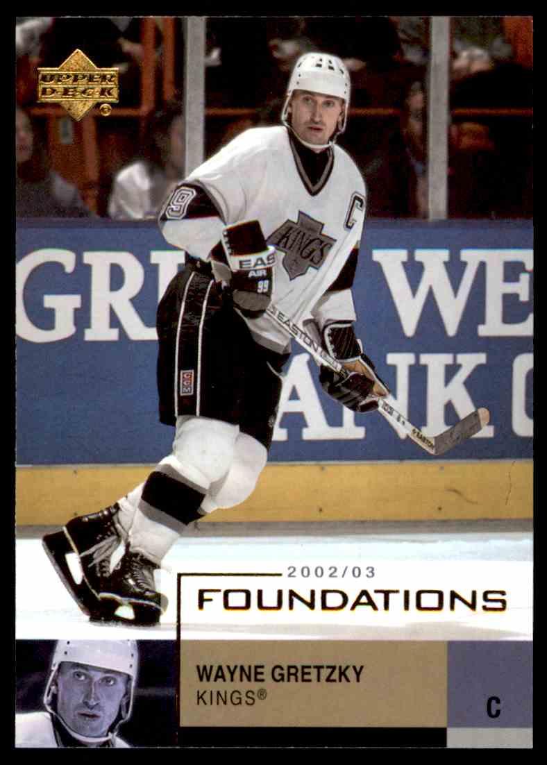 2002-03 Upper Deck Foundations Wayne Gretzky #44 card front image