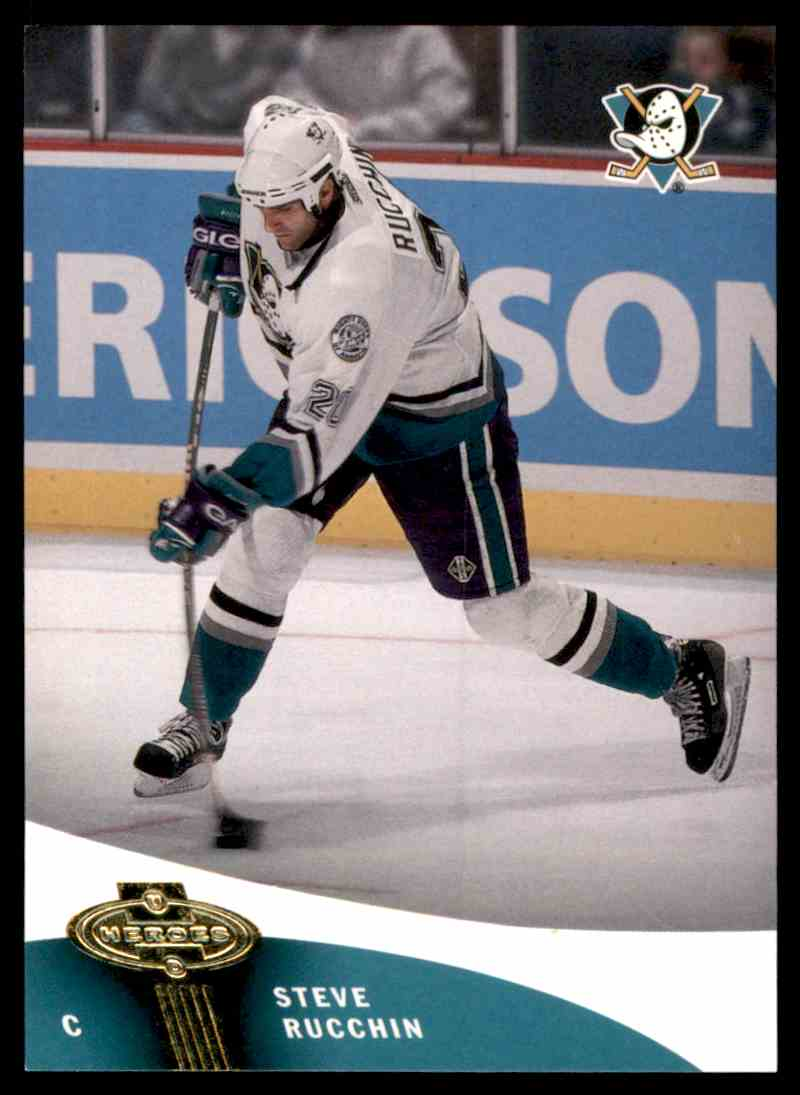 2000-01 Upper Deck Heroes Steve Rucchin #1 card front image
