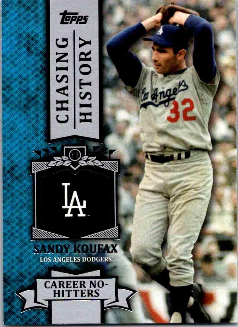 2013 Topps Baseball Chasing History Sandy Koufax Ch 50