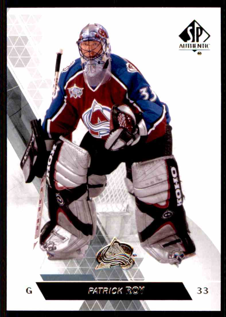 2013-14 SP Authentic Patrick Roy #45 card front image