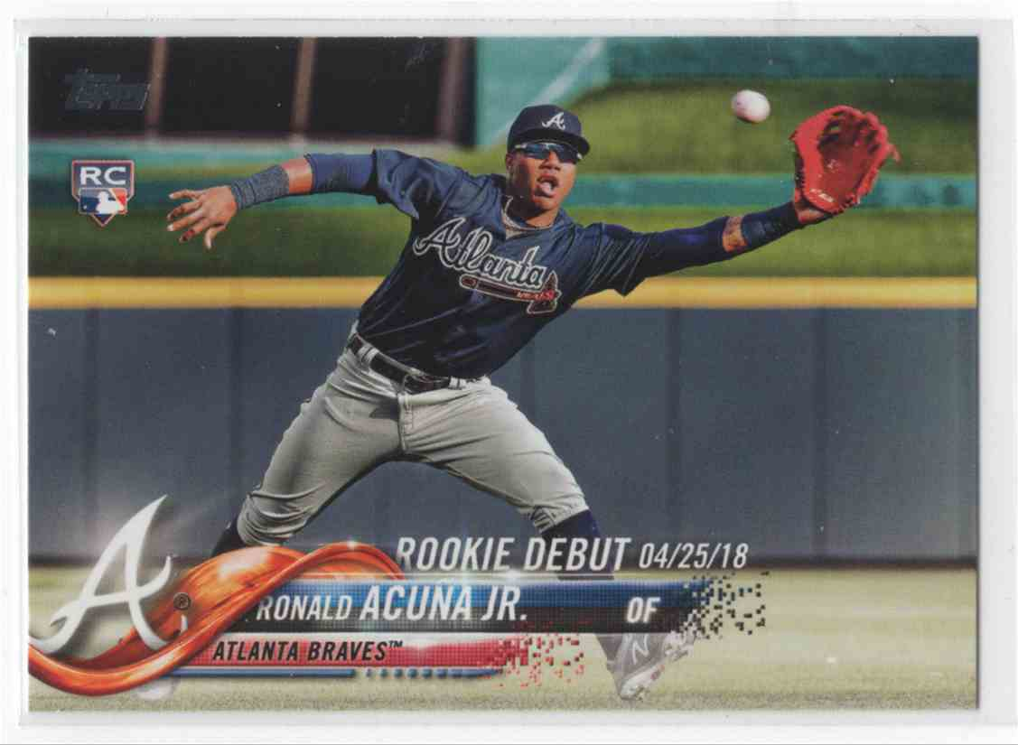 2018 Topps Update Series Ronald Acuna Jr Us252 On