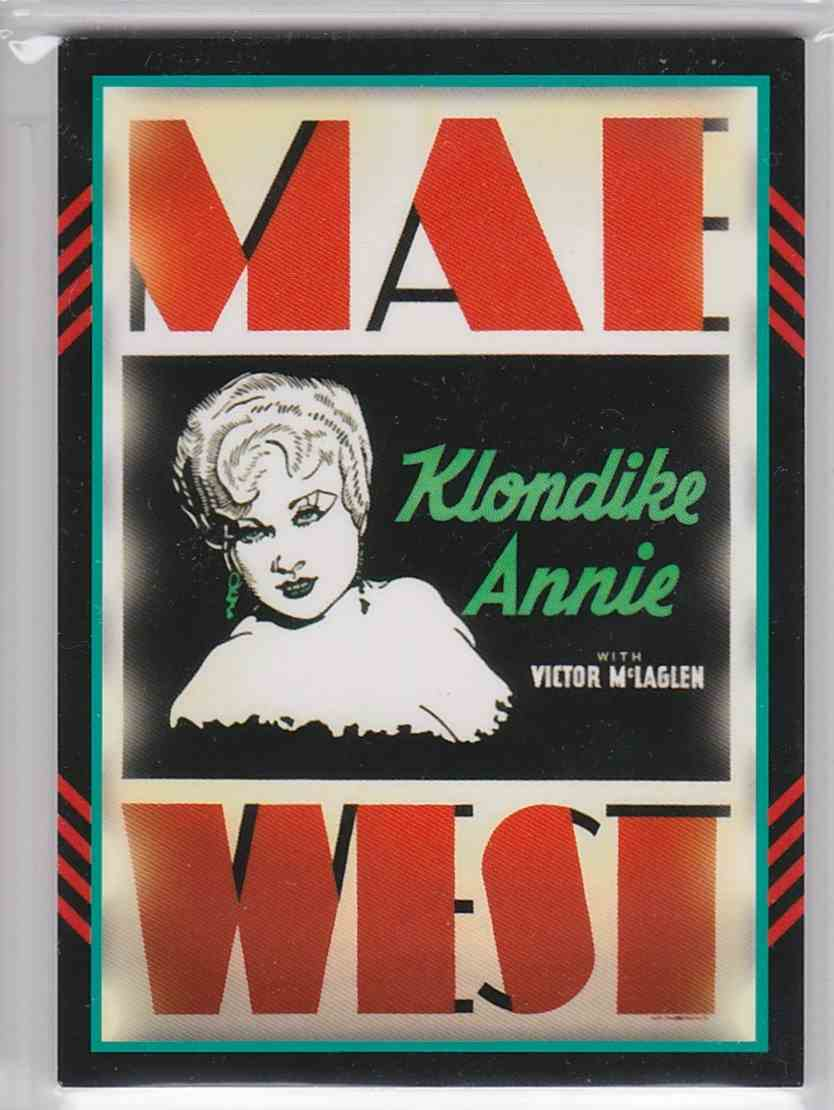 2011 Panini Americana Movie Posters Materials Mae West #11 card back image