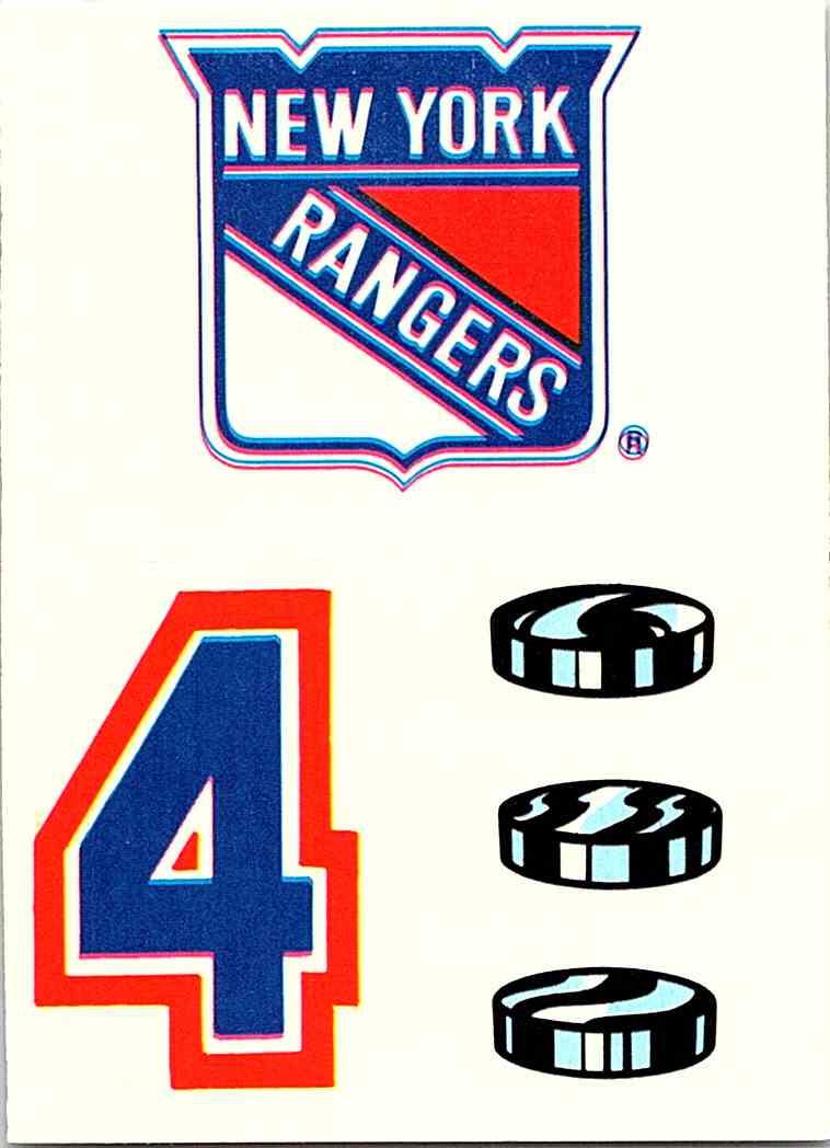 the best attitude a9b5d f123b 1985-86 Topps Sticker Inserts (Nm) New York Rangers #17 ...