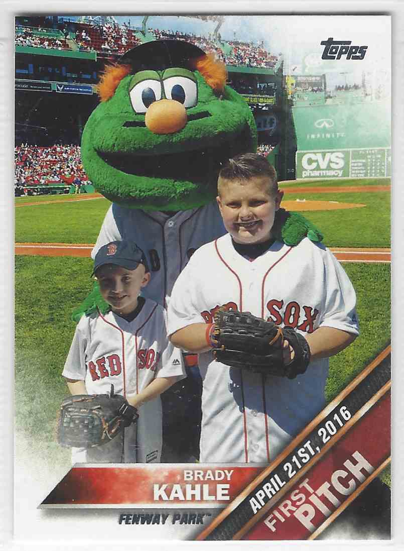2016 Topps Update Series First Pitch Brady Kahle Fp 4 On