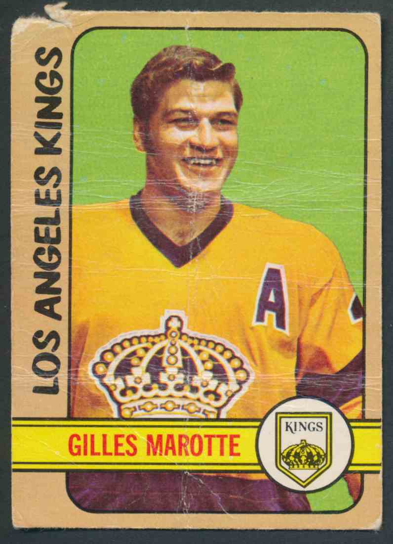 1972-73 O-Pee-Chee Gilles Marotte #27 card front image