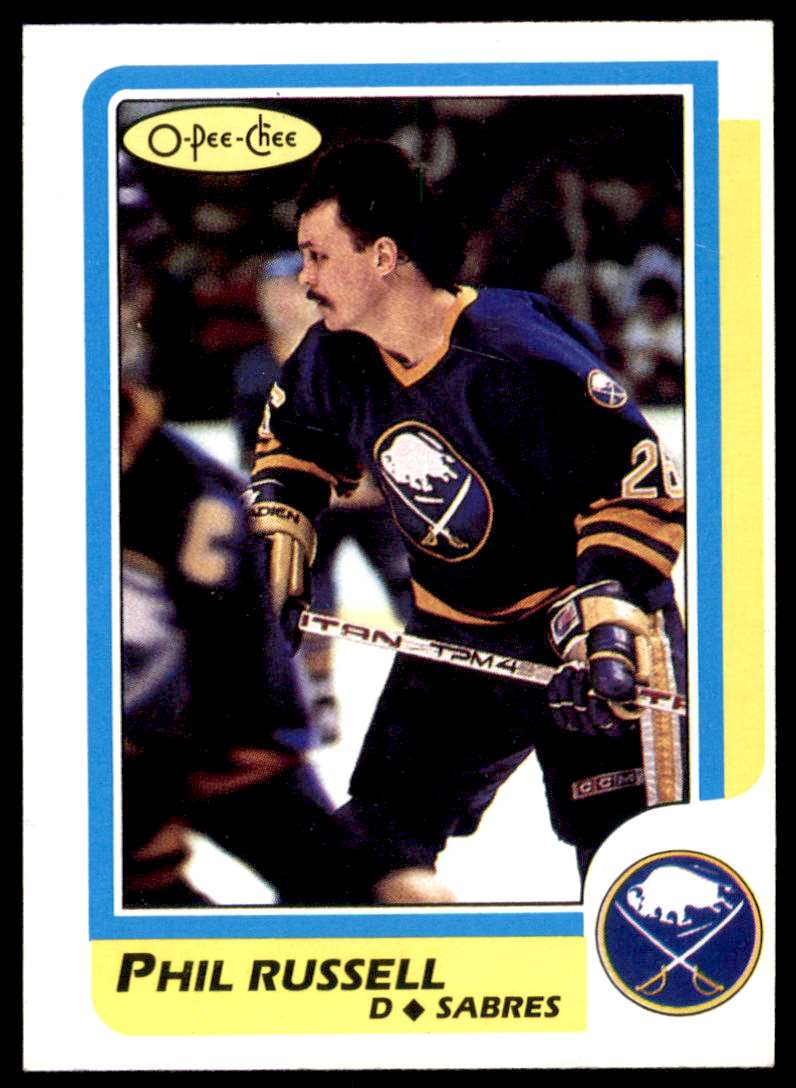 1986-87 OPC Phil Russell #142 card front image
