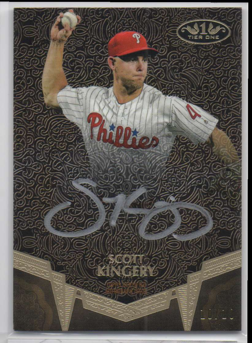 2019 Topps Tier One Break Out Autographs Silver Ink Scott Kingery #BA-SKI card front image