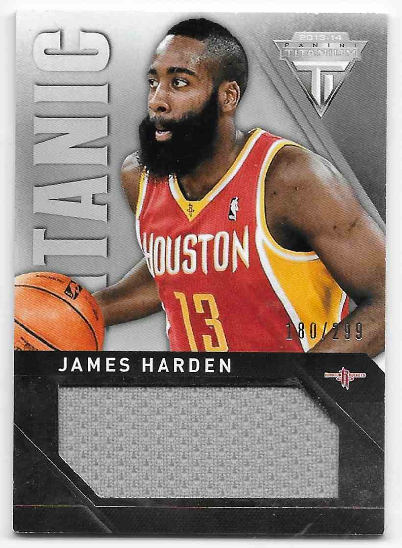 2018-19 Panini Titanium Titanic Threads Jumbo James Harden #15 card front image