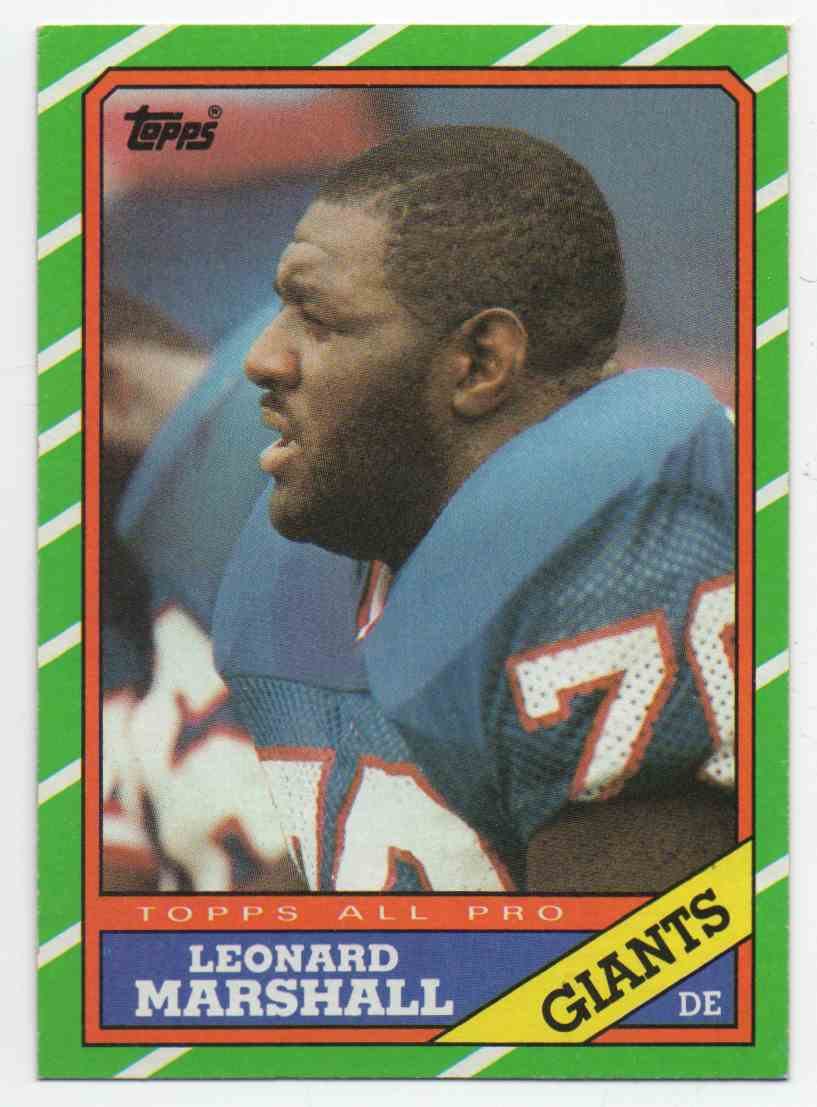 1986 Topps Leonard Marshall #148 card front image