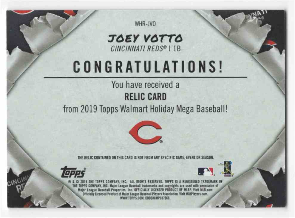 2019 Topps Holiday Joey Voto #WHR-JVD card back image