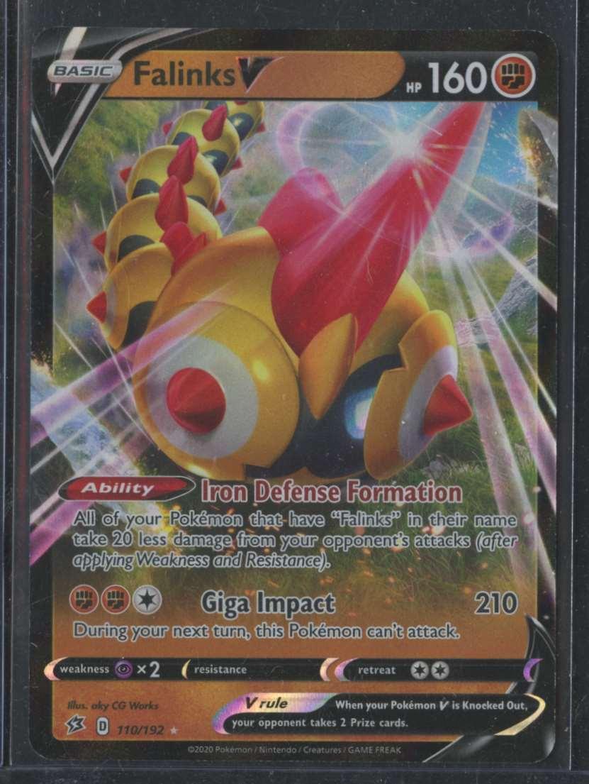 2020 Pokemon Swsh Rebel Clash Falinks V #110 card front image