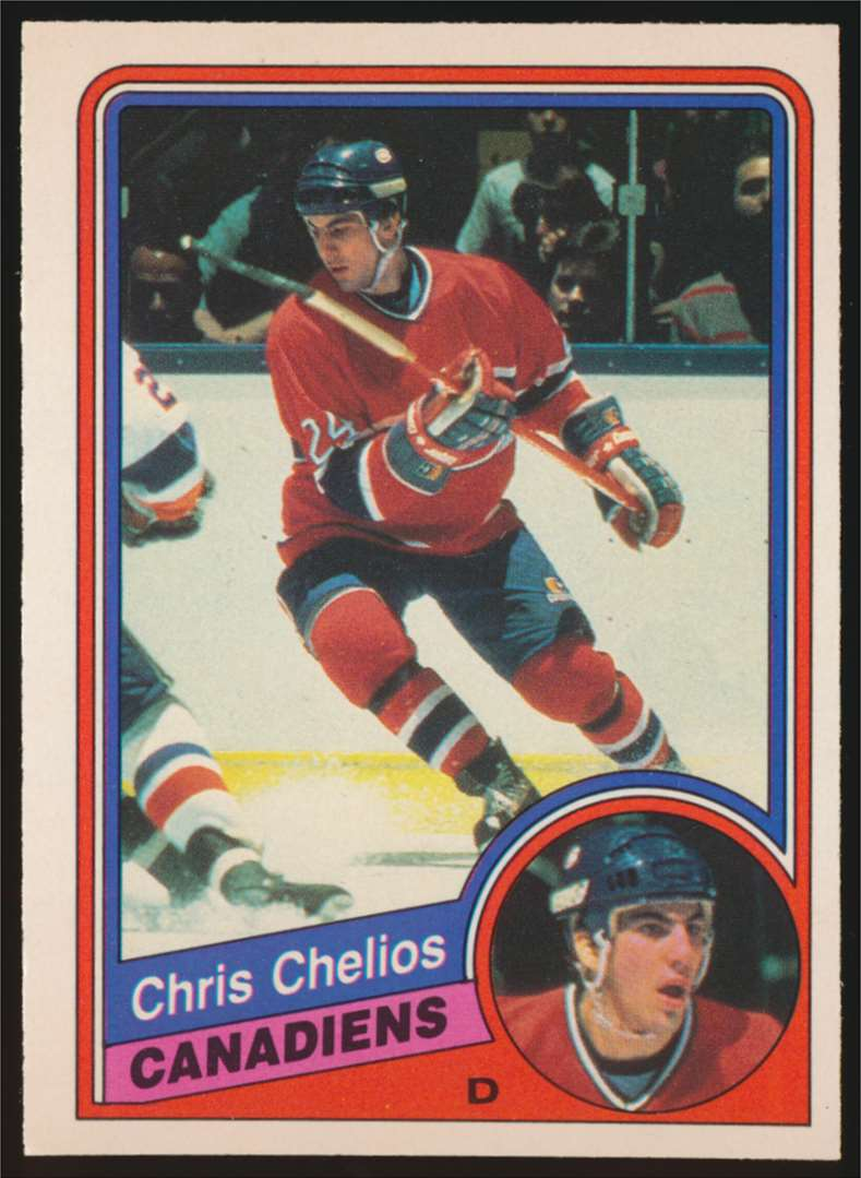 1984-85 OPC Chris Chelios #259 card front image