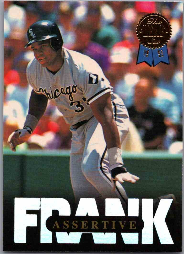 1993 Leaf Frank Thomas Assertive 5 Free Combine Shipping