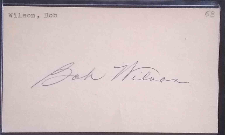 1958 3X5 Bob Wilson card front image