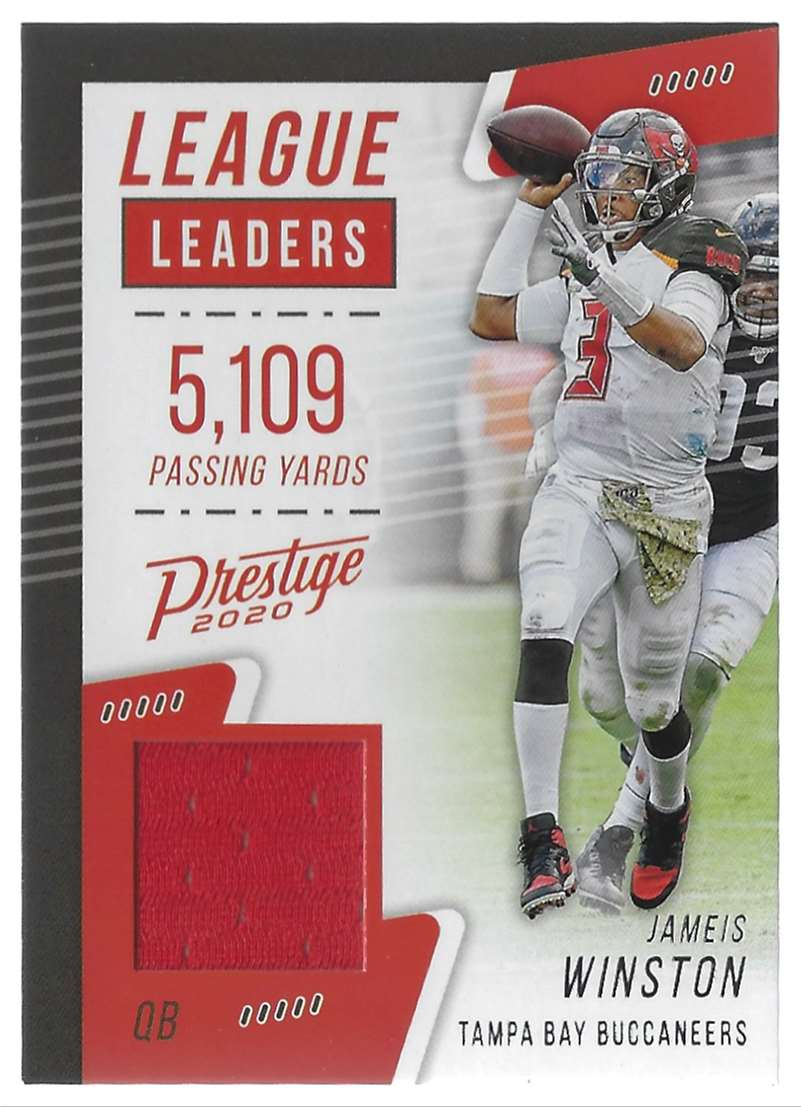 2020 Prestige League Leaders Jerseys Jameis Winston #LLJW card front image