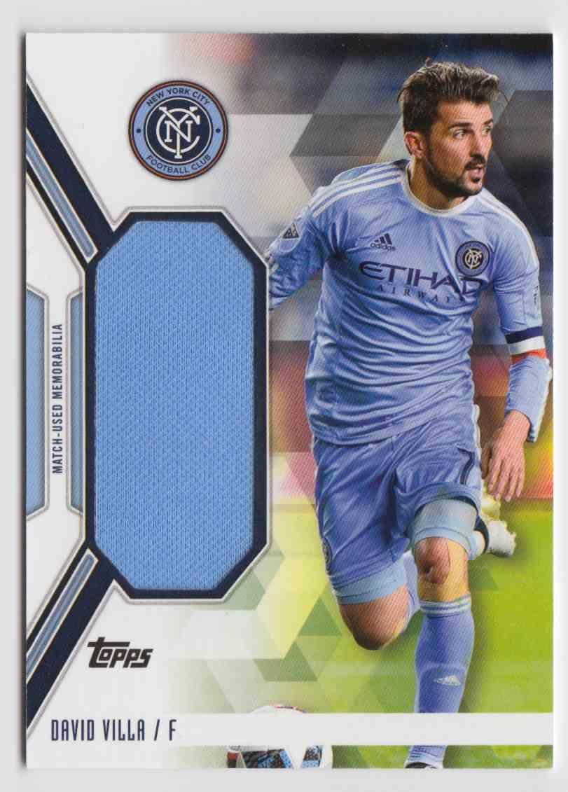 2017 Topps MLS Jumbo Relics David Villa #JR-DV card front image