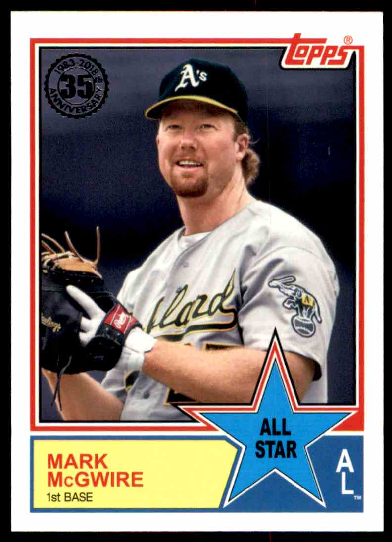 2018 Topps Series 2 1983 All-Star Insert Mark McGwire #58 card front image