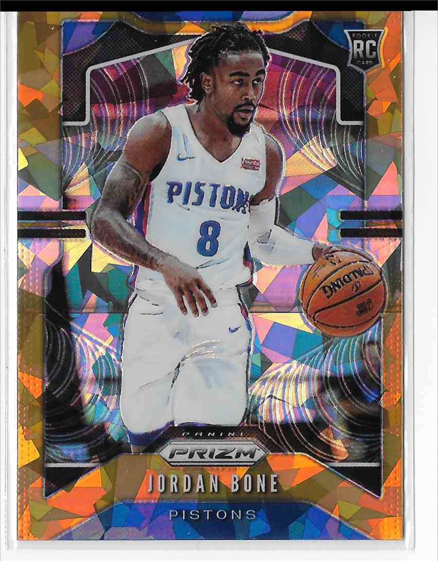 2019-20 Panini Prizm Orange Cracked Ice Prizm Jordan Bone #291 card front image