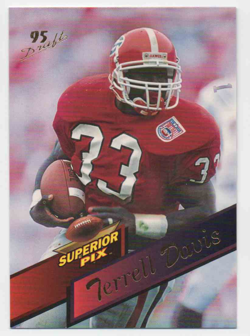 1995 Superior Pix Terrell Davis #6 card front image
