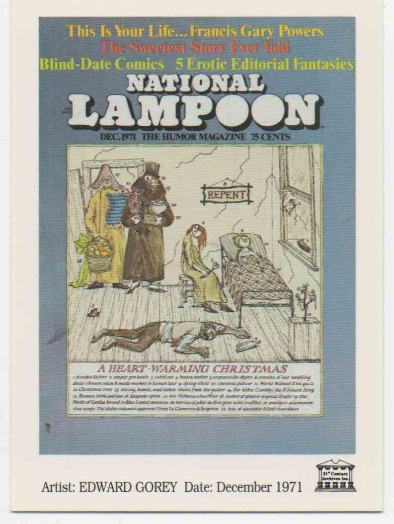 1993 National Lampoon December 1971 #8 card front image