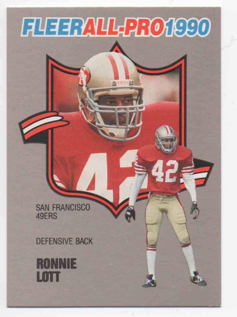 ed42168b1 1990 Fleer All Pro Ronnie Lott  19 card front image