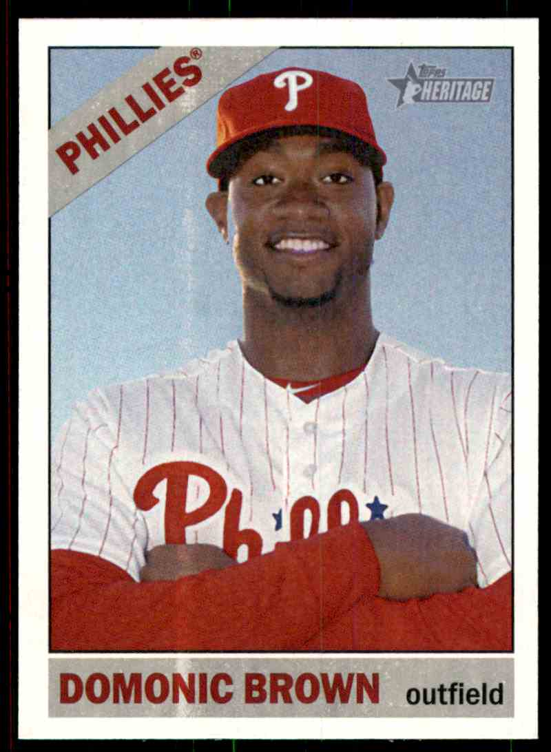 2015 Topps Heritage Domonic Brown #137 card front image
