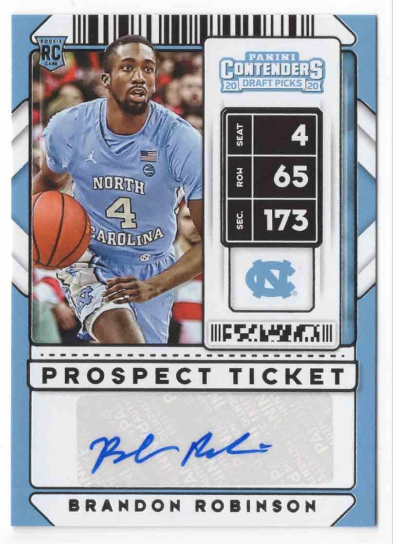 2020-21 Panini Contenders Draft Picks Brandon Robinson #136 card front image